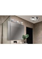 Aplique de pared LED de metal para baño con 2 luces 3200K IP 44 - Sara - ACB Iluminación