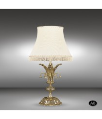 Lámpara de mesa clásica 1 luz disponible en 2 acabados - Royal - Riperlamp