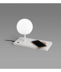Lámpara de mesa LED SMD con cargador de móvil, USB y regulador de intensidad - Niko - Faro