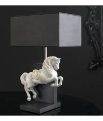 Lámpara de mesa de porcelana – Caballo Courbette – Lladró