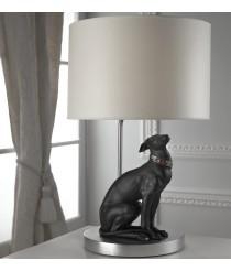 Lámpara de mesa de porcelana – Galgo atento – Lladró