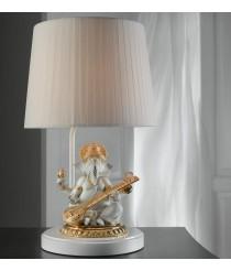 Lámpara de mesa de porcelana – Ganesha con veena. Lustre oro – Lladró