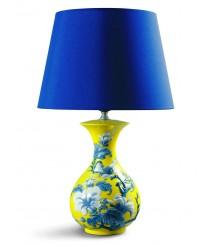 Lámpara de mesa de porcelana – Gorriones. Amarillo – Lladró