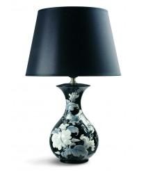 Lámpara de mesa de porcelana – Gorriones. Negro – Lladró
