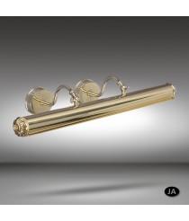 Iluminacuadros clásico con 2 luces disponible en 3 acabados - 032P - Riperlamp