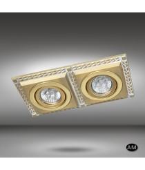 Foco de techo empotrable 2 luces LED en 6 acabados - Line - Riperlamp