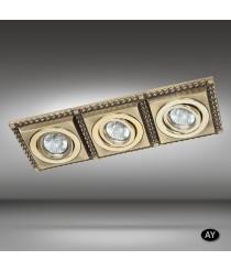 Foco de techo empotrable 3 luces LED disponible en 6 acabados - Line - Riperlamp