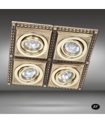 Foco de techo empotrable LED 4 luces disponible en 6 acabados - Line - Riperlamp