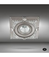 Foco empotrable de techo LED con cristales Swarovski Ø 12,5 cm - Rosa - Riperlamp