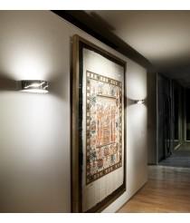 Aplique de pared de acero acabado en cromo - Farrera - Pujol Iluminación