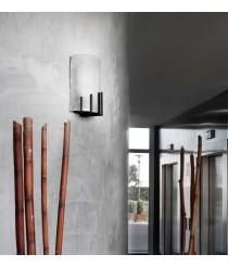 Lámpara de pared rústica de vidrio y acero - Mans - Pujol Iluminación