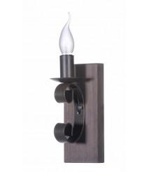 Aplique de pared con estructura de madera y metal – Lino – Artesanía Joalpa
