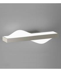 Aplique de pared LED de aluminio acabado en níquel mate 3200K – Curve – ACB Iluminación