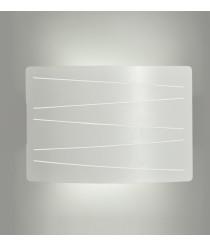 Aplique de pared decorativo de metal blanco texturado – Jonas – ACB Iluminación