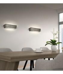 Aplique de pared LED rectangular de metal en 2 colores 3000K – Bea – ACB Iluminación