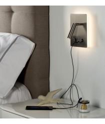 Aplique de pared LED de metal sin cable en 2 acabados 3200K – Manat – ACB Iluminación