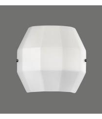 Aplique de pared de metal y cristal de doble capa – City – ACB Iluminación