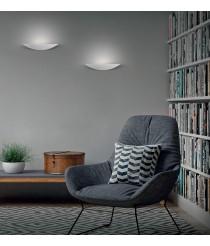 Aplique de pared LED de metal blanco texturado 3200K – Buton – ACB Iluminación