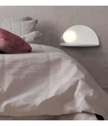 Aplique de pared LED de metal blanco texturado 3200K – Candy – ACB Iluminación