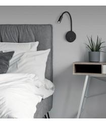 Aplique de pared de lectura LED de metal negro 3200K – Lyon – ACB Iluminación