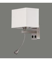 Aplique de pared de metal y algodón en 2 acabados – Doble – ACB Iluminación