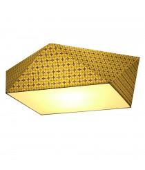 Plafón de techo geométrico amarillo/crema - Origami - IDP Lampshades