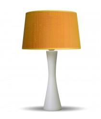 Lámpara de mesa de madera con pantalla de seda oro - Estampados - IDP Lampshades