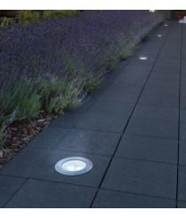 Lámpara empotrable para suelo LED de acero inoxidable 4000K – Loo – Dopo – Novolux