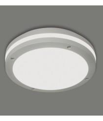 Aplique de techo exterior de aluminio gris Ø 30 cm IP 54 – Acai – ACB Iluminación
