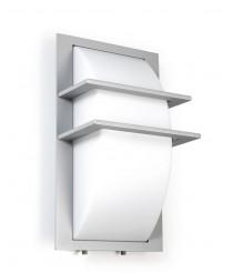Aplique de pared de aluminio gris para exterior IP65 – Mito – Dopo – Novolux