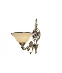 Retauched leather brass die wall light - Rialto - Riperlamp