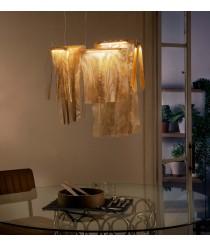 Lámpara colgante LED de metal acabada en oro con 5 luces 2800K – Sicilia – MYO