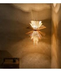 Lámpara colgante LED de malla de acero en 2 acabados 2700K – Messier – MYO