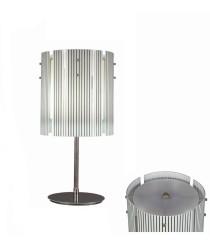 Lámpara de mesa de cristal con rayas negras D 32 cm – Elegance – MYO