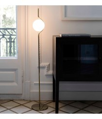 Pie de salón estructura oro y difusor de cristal – Le Vita – Faro