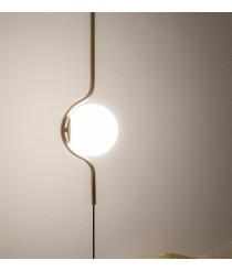 Lámpara colgante y pie de salón acabado oro – Le Vita - Faro