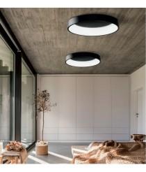 Aplique de techo circular LED de metal y acrílico 3200K – Dilga – ACB Iluminación