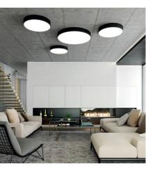 Aplique de techo circular LED de metal y acrílico en 3 colores y 4 medidas – Isia – ACB Iluminación
