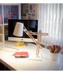 Lámpara de mesa de metal y madera - Looker - Mantra