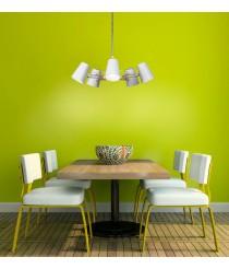 Lámpara de techo de metal y madera con 3 o 5 brazos - Looker - Mantra