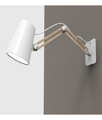 Aplique de pared de metal y madera doble brazo - Looker - Mantra