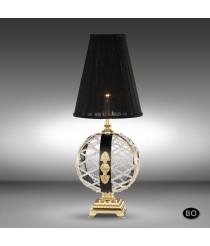 Lámpara de mesa clásica de bronce cristal Asfour o Swarovski - Arianna - Riperlamp