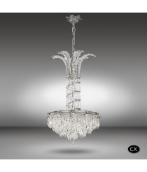 Lámpara colgante clásica de bronce en 3 acabados con cristales Asfour o Swarovski - Samara - Riperlamp