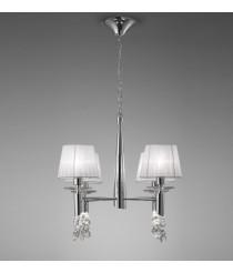 Lámpara de techo de metal en 2 acabados 4 luces - Tiffany - Mantra