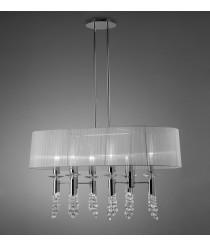 Lámpara de techo de metal en 2 acabados formato lineal 6 luces  - Tiffany - Mantra