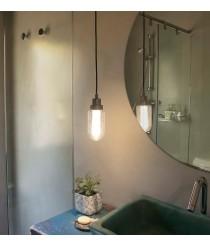 Lámpara colgante LED gris matelizado para baño IP44 – Brume – Faro
