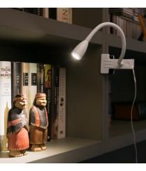 Lámpara con pinza de aluminio y metal LED con pinza en 2 acabados 3000K – Loke – Faro