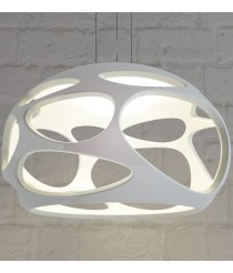 Lámpara de techo colgante de polímero blanco Ø 55 cm - Orgánica - Mantra