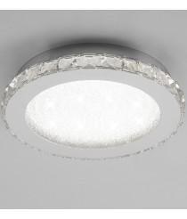 Crystal Plafón Led Cromo