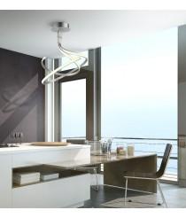 Lámpara colgante LED de cromo acabado en plata 3000K - Nur - Mantra